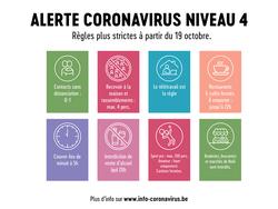 COVID-19 - Mesures en vigueur à partir du 19 octobre