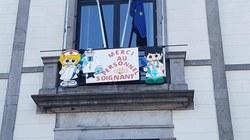 La Commune d'Anderlues rend hommage au personnel soignant