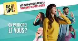 La Région wallonne lance une large consultation des citoyens pour son plan de relance post-Covid « Get Up Wallonia ».