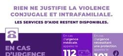 Violence conjugale et intrafamiliale : les services d'aide restent disponibles