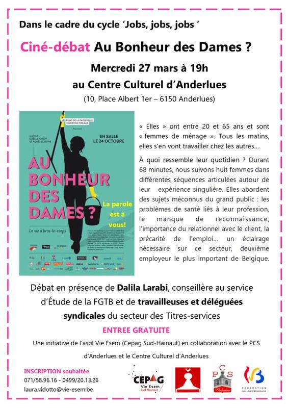 affiche Au Bonheur des Dames 27 mars 2019