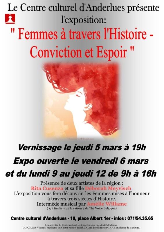Affiche Expo Femmes à travers l'histoire